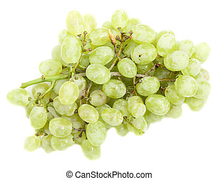 green grapes on a white background