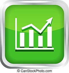 green graph icon on a white