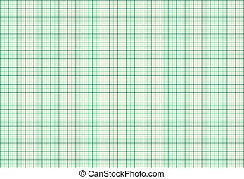 Green Graphic Milimeter Squared Paper Vector Illustration