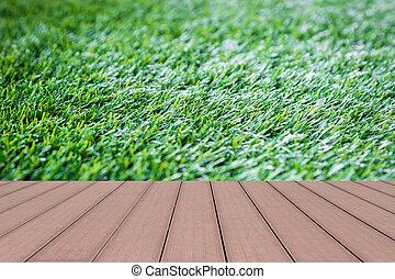 Green grass artificial turf pattern background