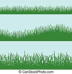 green grass background concept