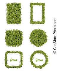 Green Grass Background & Frame Set
