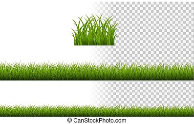 Green Grass Border Isolated Transparent Background