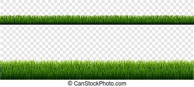 Green Grass Border With Isolated Transparent Background