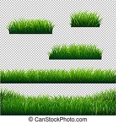 Green Grass Borders Big Collection Transparent background