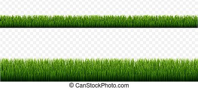Green Grass Borders With Isolated Transparent Background
