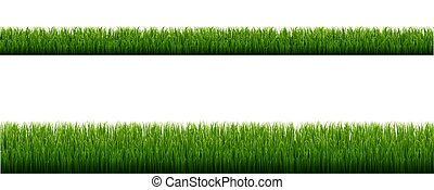 Green Grass Borders With Isolated White Background