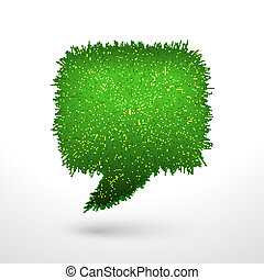 Green grass bubble isolated