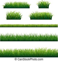 Green Grass Frame Big Set