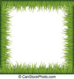 Green grass frame