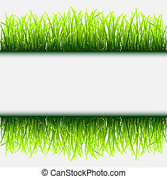 Green grass frame. Vector eps 10