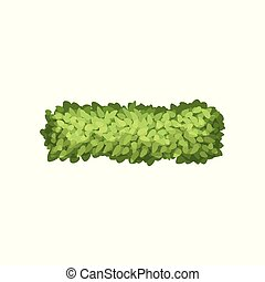 Green grass, landscape design element, top view vector Illustration on a white background