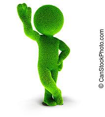 Green grass man 3d