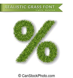 green grass percent