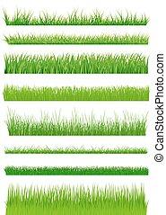 Green grass set. vector illustration