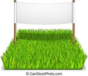 green grass sign