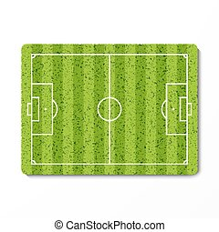 Green grass soccer field