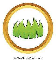 Green grass vector icon
