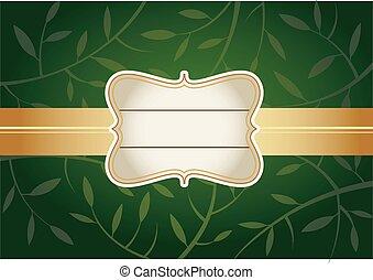 Green Greeting card