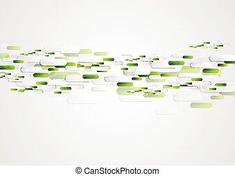 Green grey abstract tech vector illustration design