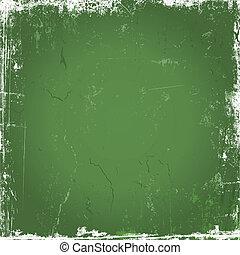 Green grunge background - Grunge background with scratches...
