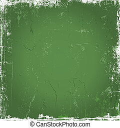 Green grunge background - Grunge background with scratches...