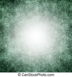 Green grunge background with white center spot