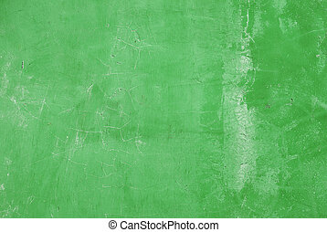Green grunge cement wall background