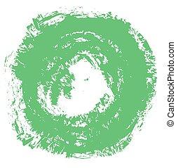 green grunge circle background