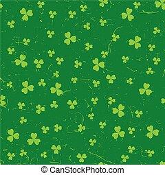 Green grunge clover backgrounds