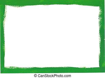 Green grunge frame