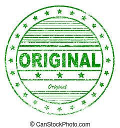 Green grunge original rubber stamp