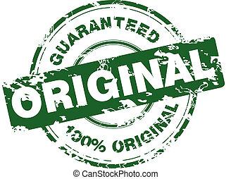 Green grunge stamp