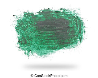 green grungy abstract hand-painted background