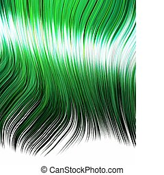 green hair in anime style