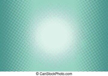 Green halftone comic background. pop art illustration vector...