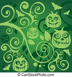 green halloween background