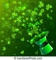 Green hat background