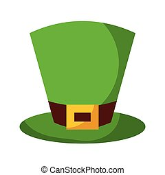 green hat leprechaun for st patricks day
