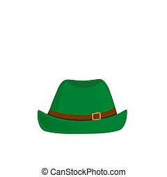 Green hat vector isolated on white background