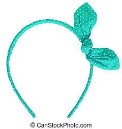 green headband isolated on white background