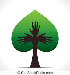 green heart shape tree