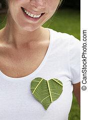 Green Heart Smile - Environmental concept shot with a green ...