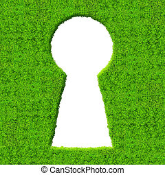 keyhole - Green hedge with keyhole