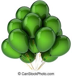 Green helium balloons (Hi-Res)