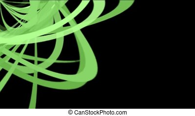 green helix lines, spiral lines pattern