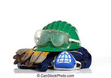 green helmet safety equipment