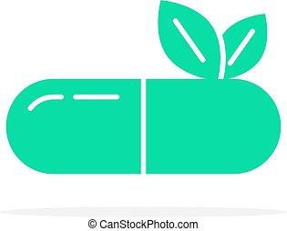 green herbal medication logo