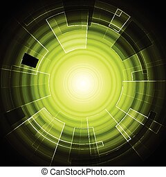 Green hi-tech background
