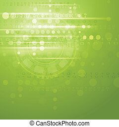 Green hi-tech vector background - Green bright hi-tech...